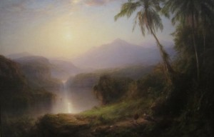 A painting by Frederick Edwin Church, from Hudson River School